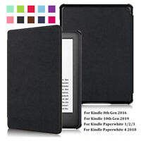 """Leather Case 6"""" eBook Reader Cover For Amazon Kindle 8/10th Paperwhite 1/2/3/4"""