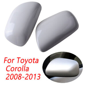 2x Rearview Mirror Cover For Toyota Corolla 2007 2008 2009 2010 2011 2012 2013