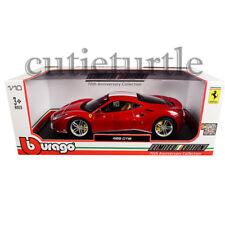 Bburago 70th Anniversary Collection Schumacher Ferrari 488 GTB 1:18 76102 Red