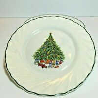 NOEL Porcelle House of Salem Christmas Dinnerware Dessert Salad Plates S/8