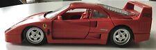 Bburago 1987 Red Ferrari F40 MO Prova 983 in Mint Condition, 1:18 Made in Italy