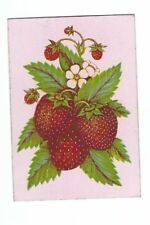 Playing  Cards 1 ANTIQUE SQUARE  CORNER CLUSTER OF  STRAWBERRIES  SQ2  C1800'S