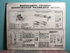 #28 SOVIET SAFETY POSTER CHEMICAL RECONAISSANCE DEVICE USSR* COLD WAR PROPAGANDA