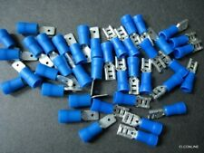 """New listing Vd2-4.8Mf Blue Spade Connector 3/16"""" M&F Insulated Terminal #gtc 40 Pcs/Pack"""