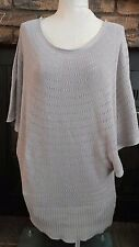 The Limited Gray Batwing Pullover Womens Knit Sweater Size Large