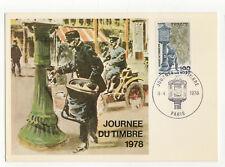 journée du timbre 1978 timbre France 1er jour FDC carte maximum /T2604