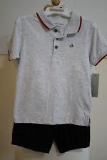 Calvin Klein Jeans Toddler Boy's 2 Piece Short Sleeve Polo Shirt & Shorts Set 3T