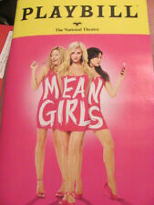 MEAN GIRLS Playbill Musical WASH DC DEBUT TINA FEY TAYLOR LOUDERMAN BROADWAY