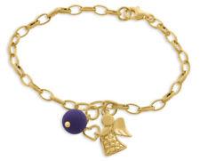 Schutzengel Armband mit Perle Engel Schmuck vergoldet Taufschmuck schlicht