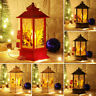 Christmas Santa Claus Snowman Castle Lamp Light Fairy Hanging Lantern Ornament