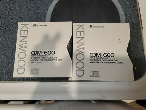 Kenwood CDM-600 6 Disc Cartridge for Kenwood/JVC CD Changers Lot of 2