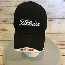Titleist Baseball Cap Black/White Adjustable Buckle Back Cotton #1 ball in golf