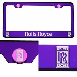 T304 Candy Purple License Frame Stainless Steel Silver Rolls Royce Laser Etched