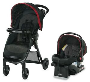 Graco Baby FastAction SE Travel System Stroller w/ SnugRide 30 LX Car Seat Hilt