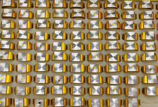 Wholesale New Design Lots 10pcs gold Color Aluminum Fashion Men's Rings L730