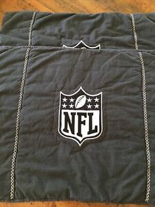 Pair Of Pottery Barn PB Teen NFL Quilted Standard Sham Black