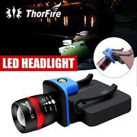 ThorFire LED Cap Light Headlamp 3 Modes Ball Hat Lamp Zoomable Flashlight AAA