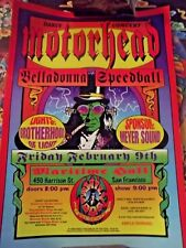 MOTORHEAD CONCERT POSTER, family dog 1996 new never displayed