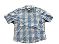 Ben Sherman Mens Big And Tall Short Sleeve Plaid Collared Shirt Size 2 XL