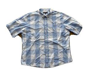 Ben Sherman Mens Big And Tall Short Sleeve Plaid Collared Shirt Size 2 XL