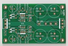 LM317/337 dual rail regulator PCB for preamplifier/headphone amp(green) !