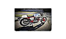 1974 Ducati 750Gt Bike Motorcycle A4 Retro Metal Sign Aluminium