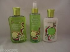 Bath & Body Works Apple Blossom Citrus Shower Gel Body Lotion Splash 3 Pc Set