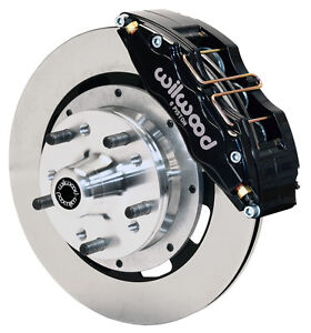 "WILWOOD DISC BRAKE KIT,FRONT,70-78 GM,12"" ROTORS,6 PISTON BLACK CALIPERS"