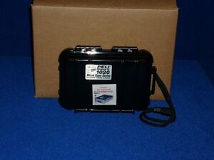 Peli Micro Case 1020 kleiner Fotokoffer mit stoßdämpfenden Polstern schwarz Neu