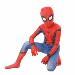 Kid Spiderman Homecoming costume Spandex Zentai Civil War Costumes Cosplay Suit