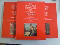 LA REVOLUTION FRANCAISE ET L EUROPE 1789 1799- 3 TOMES- 1989