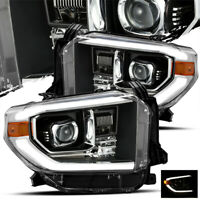 For 2014-2019 Toyota Tundra (TRD-PRO Style) Black Projector Headlights Upgrade