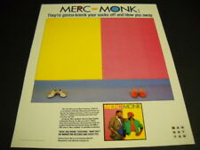 ERIC MERCURY & T.S. MONK III will knock your sock off 1985 PROMO POSTER AD mint