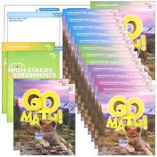 Grade 1 Go Math Homeschool Kit Teacher Editions 1st Curriculum Non Common Core
