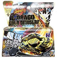 L-Drago Destructor (Destroy) GOLD Armored Metal Fury 4D Beyblade Fight Set Toy