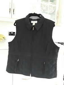 Orvis Ladies Womens Size XL 18/20 Black Quilted Gilet Bodywarmer Autumn Winter