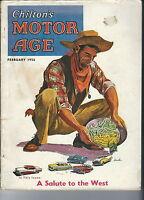 MC-224 - Chilton's Motor Age Magazine, February 1956 Issue, Ads Illustrations