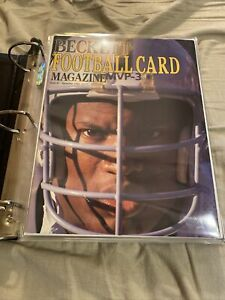 Beckett Football Card Monthly Magazine (Issues #1 - #10 NM Condition  W/Binder