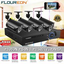 New ListingFloureon 4Ch Cctv Security Camera System Fhd 720P Outdoor Video Surveillance Dvr