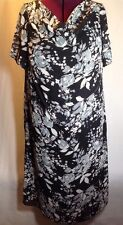 Ambiance Apparel 22W 2X/3X? Women Plus Dress Black Grey Floral Holiday Career F2