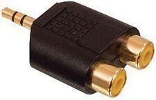 SDOPPIATORE  JACK 3,5mm A 2 USCITE RCA DORATO