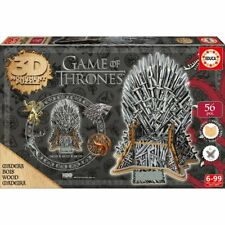 "Game of Thrones 3D Wooden Doll "" Iron Throne "" Puzzle Wood Monument"