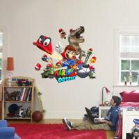 Super Mario Bros Odyssey Wall Sticker Decal Home Decor Art Mural Kids WC140