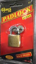Brand New Guard Padlock With 3 Keys. Solid Brass