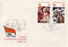Ersttagsbrief DDR MiNr. 2595, 2598, Parteitag der Sozialistischen Einheitspartei