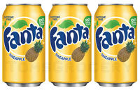 3 x FANTA PINEAPPLE Flavor Soft Drink Full Unopened Soda Cans 355ml 12 fl oz