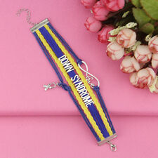 Lovely Friendship Down Syndrome Awareness Bracelet.Stunning In Organza Gift Bag
