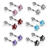 2pcs Ball Button Stainless Steel Barbell Bar Eyebrow Ear Nail Belly Navel Ring