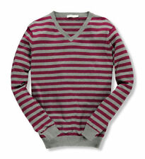 Cotton V-Neck Hand-wash Only Striped Jumpers & Cardigans for Women