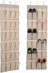 Range chaussures à suspendre 24 compartiments soit 12 paires, livré avec crochet